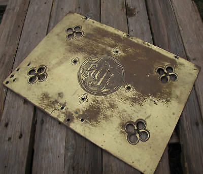 Antique Victorian Brass Church Lectern Bible Stand Front