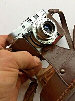 AGIMATIC 35mm camera with leather case