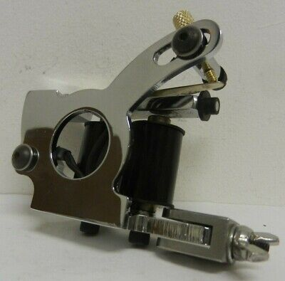 old school chromed loop style tattoo machine - shader