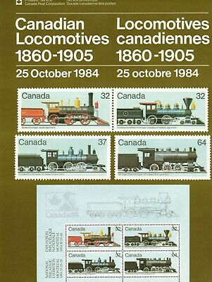 1036 Locomotive / Railway Canada Post Office Poster and Brochure