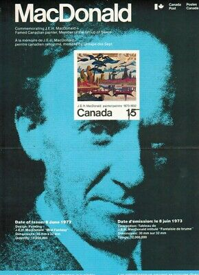 617 Canada Post Office Poster: MacDonald (Group of Seven)