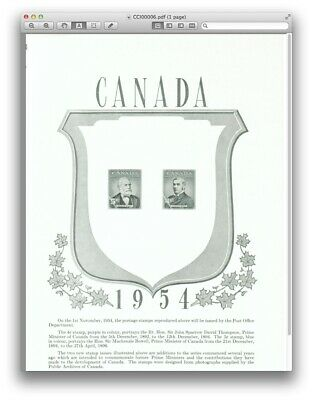 349 - 350 Thompson & Bowell Canada Post Office Poster Prime Ministers