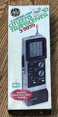 GE 2-Channel Handheld Citizens Band Transceiver Model #3-5970 (Circa 1977)