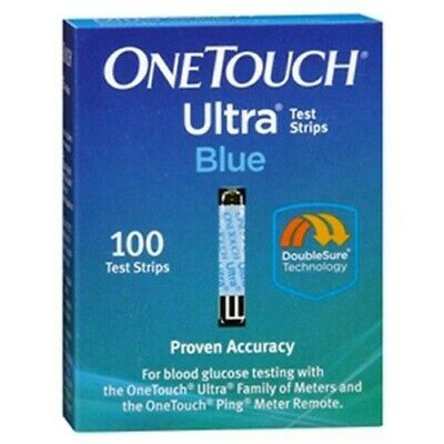3 100 Ct Boxes Of New One Touch Ultra Blue Test Strips Exp 6/21 300 Total Strips