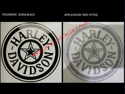 2 x HARLEY DAVIDSON style gas Tank decal sticker chopper several colours