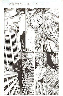Ultimate Spider-Man #89 p.18 - Silver Sable Action - 2006 art by Mark Bagley