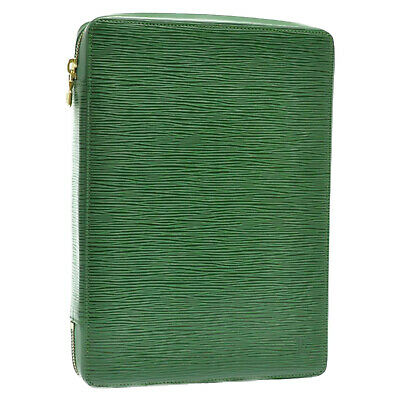 LOUIS VUITTON Epi Agenda Voyage Day Planner Cover Green LV Auth 11328