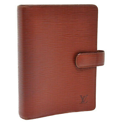 LOUIS VUITTON Epi Agenda MM Day Planner Cover Brown R20043 Auth 11162 **Sticky