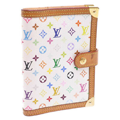 LOUIS VUITTON Multicolor Agenda PM Day Planner Cover White R20896 Auth 10966