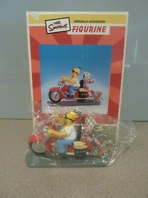"""Homer Simpson """" Rebel Without A Donut"""" Motorcycle Sculpture - In Original Box -"""