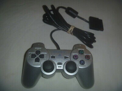 Official Sony Playstation 2 PS2 DualShock Wired Controller Silver SCPH-10010