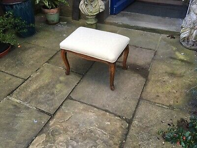 Edwardian cherry wood boudoir stool or foot rest