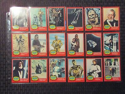 1977 STAR WARS Series 2 Trading Cards LOT of 66 w/ 11 Stickers VG+ to FN+ Topps