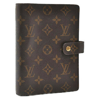 LOUIS VUITTON Monogram Agenda MM Day Planner Cover R20105 LV Auth sa2649