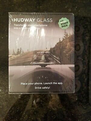 HUDWAY GLASS Heads Up Display GPS Navigation Projector New Sealed (Bin 1)