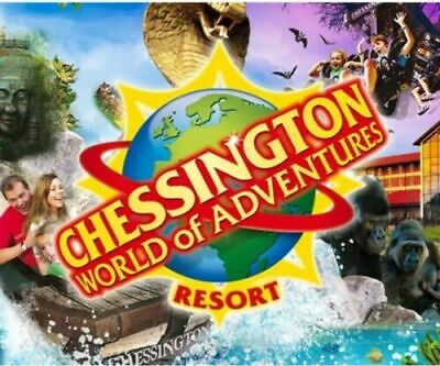 2 X Chessington Paper Tickets For Thursday 4th June 2020 04/06/20