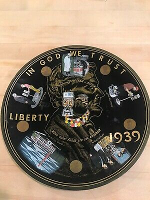 """Vintage 10"""" 1939 Ford Gum Ball Plant Fordway Program In Action Penny Plate"""
