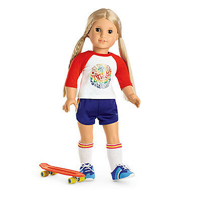 American Girl Retired Julie Skateboarding Outfit-New