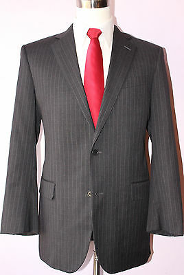 Brooks Brothers Gray Striped Wool Two Button Suit 38 Regular 32 29 Pants 38R