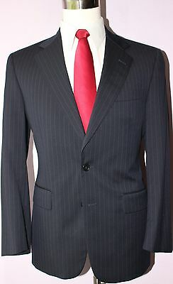 Brooks Brothers Fitzgerald Blue Two Button Wool Suit 38 Regular 35 27 Flat 38R
