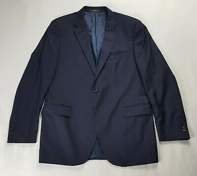 Peter Millar Blazer Sport Coat 100% Wool Men's 44T Blue
