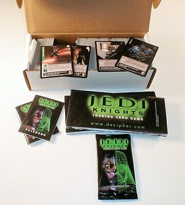 Star Wars Jedi Knights Trading Card Game Lot 514 Cards + 1 Sealed Booster Pack