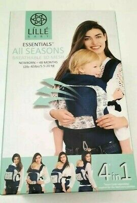 NEW LILLEbaby Essentials All Seasons 4-in-1 Baby Carrier Park Place Stone Gray