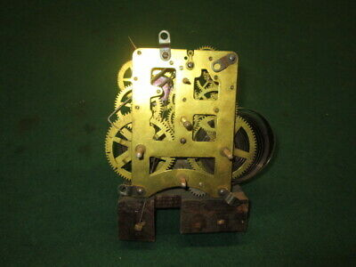 Old Waterbury Chime Clock Movement Old Clock Parts Estate Find