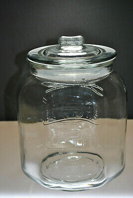 Vintage 5 Cent Salted Peanuts Glass Jar With Lid