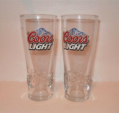Set Of 2 Coors Light Pint Glasses 20oz Brand New 100/% Genuine Nucleated o//s ST1
