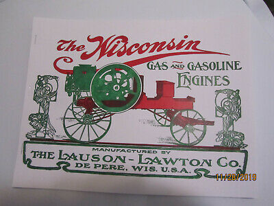 "Lauson-Lawton ""Wisconsin"" Gas Engine Catalog, All Sideshaft Engine Catalog"