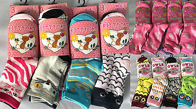 12 Pairs Kids Girls Cotton Socks School Summer Trainer Ankle Socks 4 Sizes