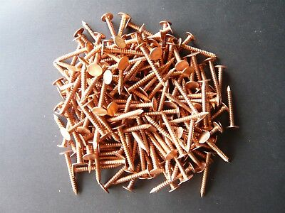 "1-1/4"" Annular Ring Shank Solid Copper Roofing Nail11 Gauge (50 Pcs)"