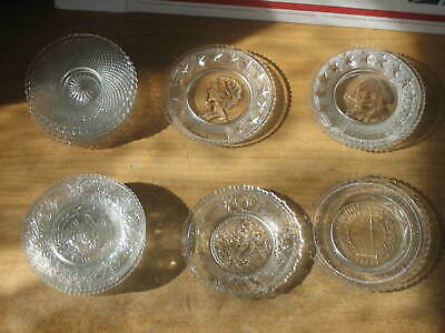 """Vintage LOT OF 12 Crystal Glass  Mini Plate Coaster 3.5"""" Moser? Pairpoint"""