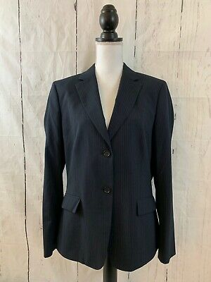 """BROOKS BROTHERS """"346"""" Classic Fit Blazer Jacket Navy Blue Pinstriped Size 16"""