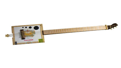Wooden Cigar Box Guitar Plans DIY 3 String Musical Instrument Build Your Own