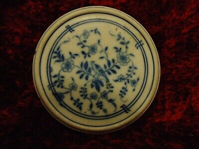 Unusual Chinese Antique 18thC Hand Painted Blue & White Porcelain Plate