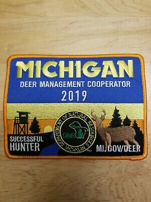 2016 MICHIGAN SUCCESSFUL DEER HUNTER PATCH BEAR TURKEY NEW MINT