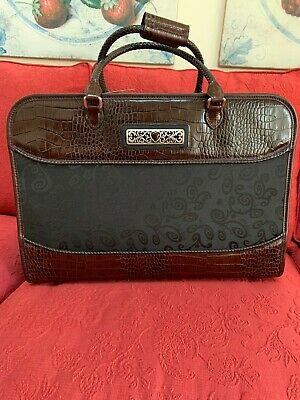"""New Brighton Black & Brown 18"""" Weekender Overnight Carry-on Luggage Travel Bag"""