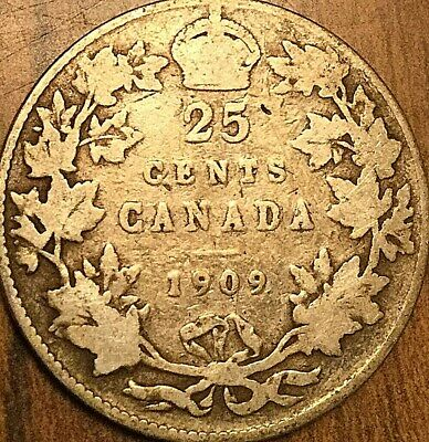 1909 Canada Silver 25 Cents