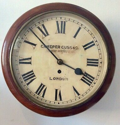 Camerer Cuss & Co Mahogany Chain Fusee Dial Clock Recently Serviced