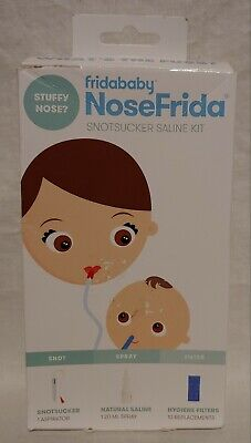 FridaBaby NoseFrida SnotSucker Nasal Aspirator, with 10 Filters, New.