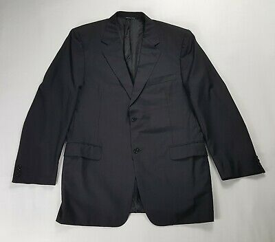 Canali Super 120s Wool Blazer Sport Coat Men's 46 L Made In Italy