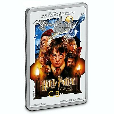 HARRY POTTER™ Classic Poster The Sorcerer's Stone 1oz Silver Coin Niue 2020