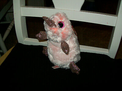 """TY Beanie Boos Wilma the Platypus 6/"""" Glitter Eyes Red Heart Tag"""