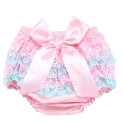 ABDL Diaper Cover Sissy Satin Bow with lace for Adults