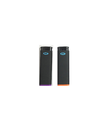 2 Ct Of MK JET BLACK TORCH  Big Full Size Lighters Refillable Windproof Lighter