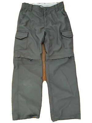 North Face Youth Adjustable Waist Convertible Hiking Pants Suit Sz 10-12 Years