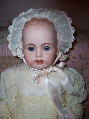 Porcelain Ooak Reproduction Antique Baby Doll Kestner Germany Christening Dress