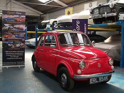 Classic Fiat 500. Red. Left Hand Drive. Good body condition